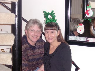 Chris and Aimee (the one with the Green Antlers!)