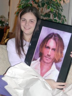 Kayleigh and Johnny Depp (sort of)!